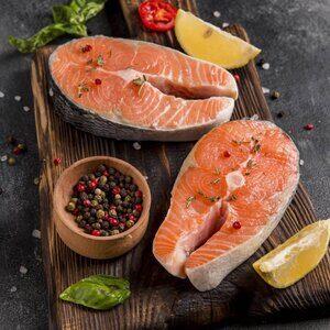 4-5 Slice Premium Chile Salmon Steak (1KG)