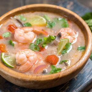Tom yam kong soup. Thai food.